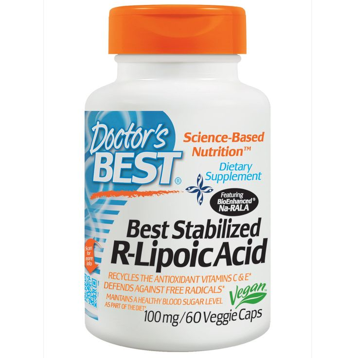 """STABILIZES BLOOD SUGAR, PROTECTS AGAINST NERVE CELL DAMAGE """" I was diagnosed with Type 2, Diabetes 5 years ago.The worst case scenario for for diabetic is nerve damage in feet and legs Eye damage which can lead to blindness and kidney failure.  I read about Lipoic Acid and that the R-Lipooic acid was the best kind. I started taking 500 Mg. per day,...no foot pain, etc"""