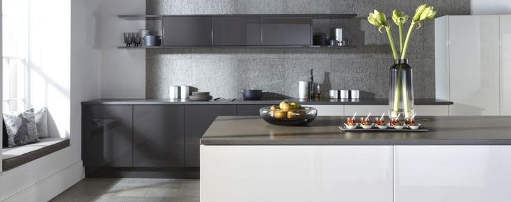 The Otto gloss kitchen, shown here in white, is available online from Units Online