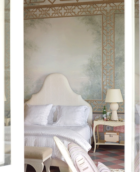Sofia Coppola's bedroom - at Palazzo Margherita - Photograph by James Merrell for WSJ