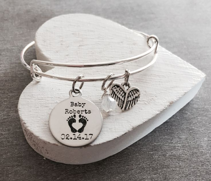 Mommy of an Angel, Forever in my heart, Charm Bracelet, Loss of Baby, Miscarriage, Silver Bracelet, Loss of Child, Jewelry, Baby Memorial by SAjolie, $24.95 USD