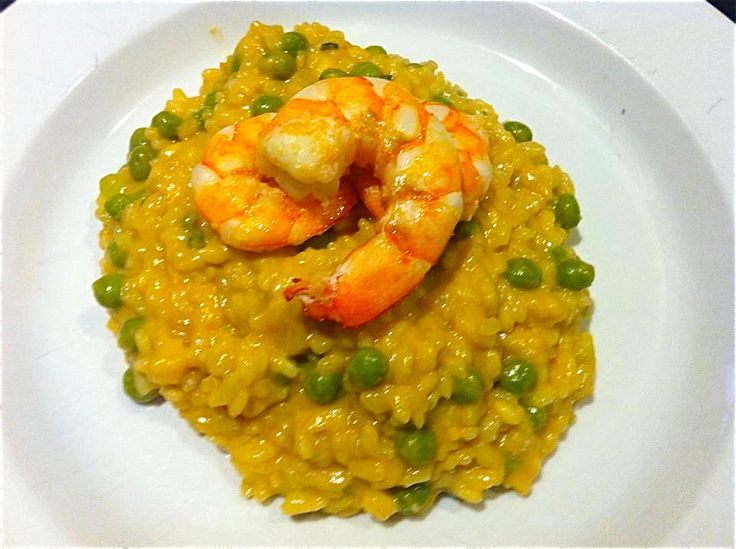 Prawn, Sweet Corn and Pea Risotto