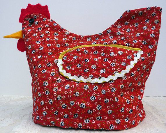 Vintage TOASTER COVER Chicken Kitchen Appliance by AntiqueWhimsy, $8.00-----so i want a chicken toaster cover, dont judge me