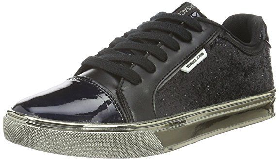 Versace Jeans Damen Running Fitness-Schuhe, Nero (Nero-E899), 38 EU