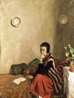 Olvasó lány. Pólya Tibor.