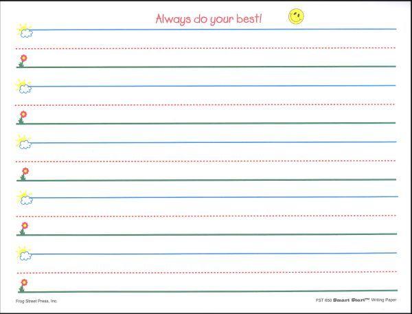 87c789b77f2ce6daa75945502deada57 - Kindergarten Writing Paper