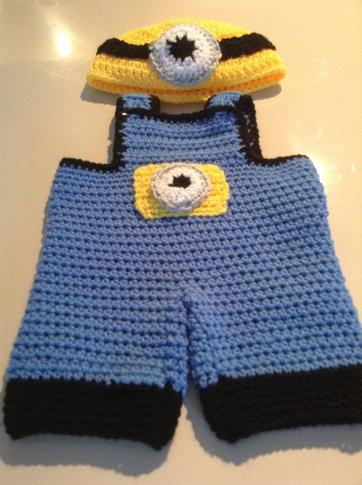 A personal favourite from my Etsy shop https://www.etsy.com/au/listing/271619098/minion-suits-for-newborn