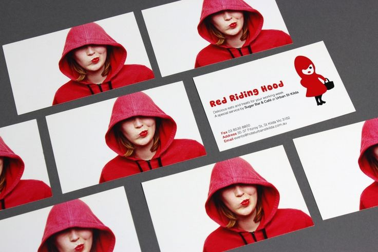 Red Riding Hood business cards by Another Colour