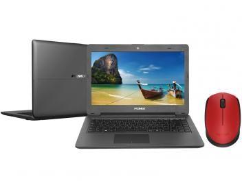 "Notebook PC Mix Intel Celeron Dual Core - 4GB SSD 32GB LCD 14"" + Mouse Sem Fio Laser 1000dpi"