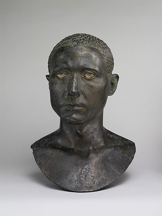 Bronze portrait bust of a man, Roman, 50 BC, Metropolitan Museum, NYC