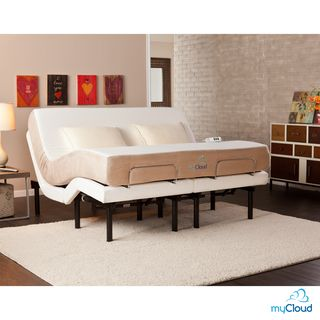 mycloud adjustable bed california kingsize with 10inch gel infused memory foam mattress