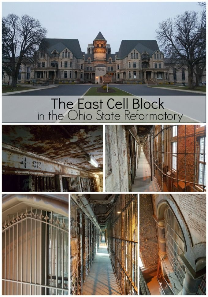 The East Cell Block in the Mansfield Reformatory (Ohio State Reformatory) the world's largest free-standing jail cell