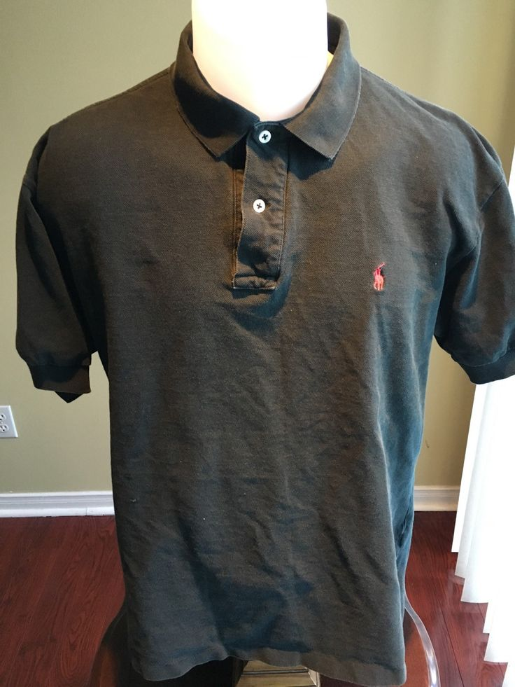 New to MajorDivision on Etsy: Vintage XL Black Short Sleeve Polo Ralph Lauren Polo (15.00 CAD)