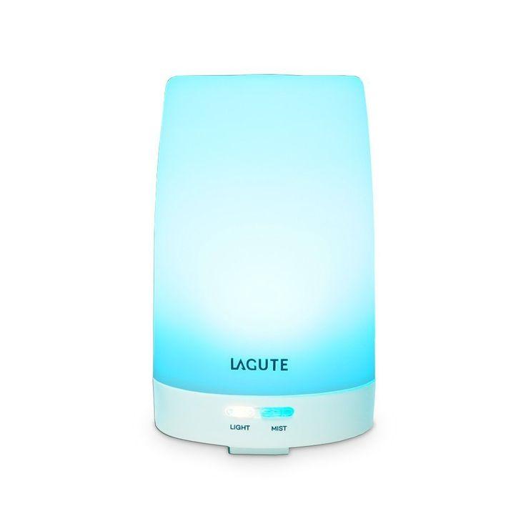 Mein erster Diffusor - sogar mit Lichtwechsel - ich mag ihn und er bringt einen guten Duft (abhängig vom Öl), als Luftbefeuchter nicht wirklich geeignet - Lagute 100ml Aroma Diffuser Aromatherapie Diffuser Aroma Luftbefeuchter Ultraschall Luftbefeuchter mit 7 LED Farbwechsel,