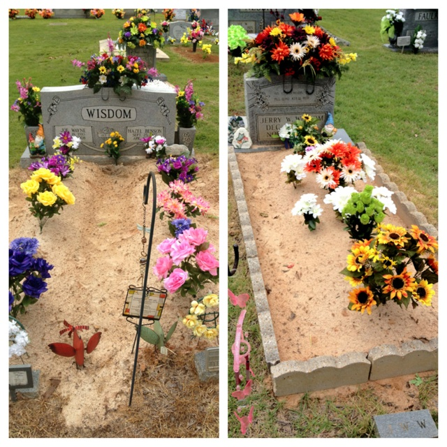 Cemetery decoration 2012 summer 2012 pinterest for Grave decorations ideas
