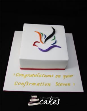 Peace Dove Confirmation Cake - Eat Sleep Dream Cakes