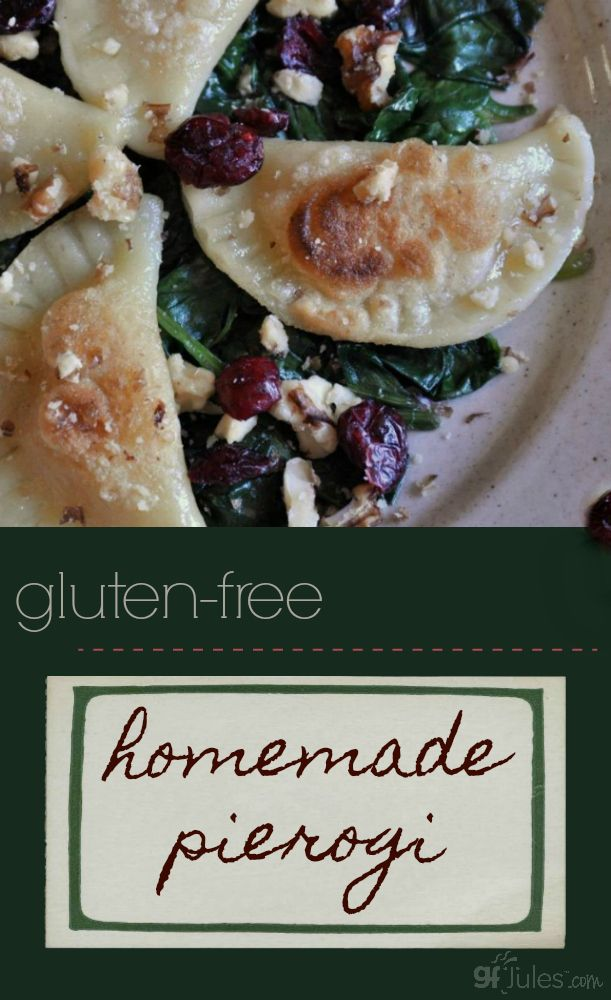 Homemade gluten free pierogi - just like you remember it, only without the gluten! This soft, pliable dough makes it easy to bring back this traditional favorite whenever you crave it! | gfJules
