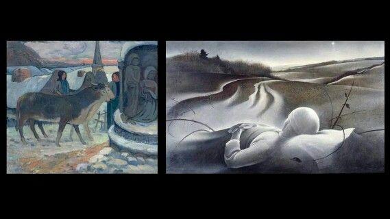 Paul Gauging notte di Natale 1902 1903 .... Mattina di Natale di Andrew Wyeth 1944