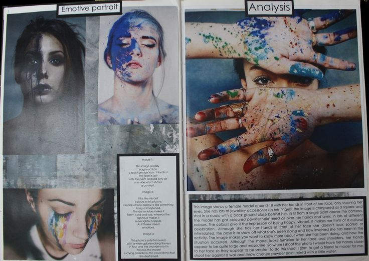 Page 1 & 2 - Photograph influences and analysis of chosen photo.