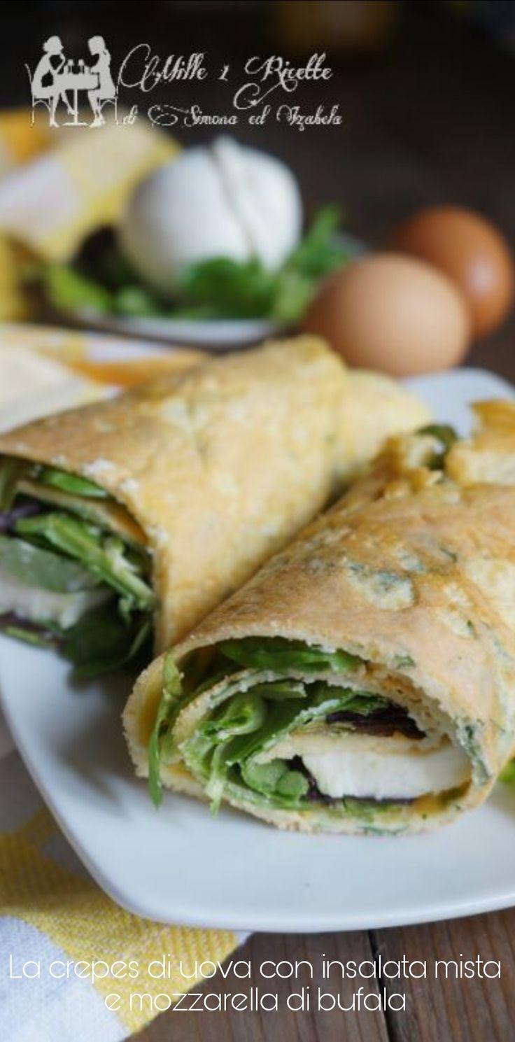 La crepes di uova con insalata mista e mozzarella di bufala http://blog.giallozafferano.it/mille1ricette/la-crepes-di-uova-con-insalata-mista-e-mozzarella-di-bufala/