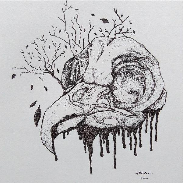 Illustration - Owl Skull for My Brand Immortal