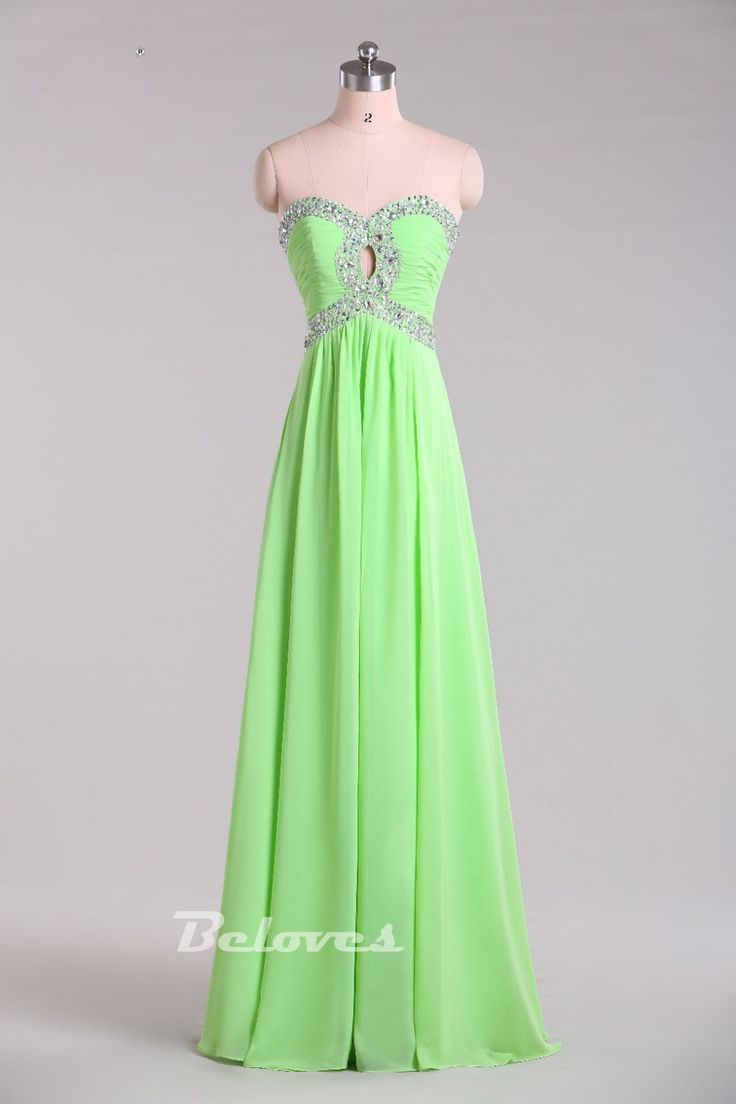 Prom Dress, Green Dress, Cut Out Dress, Beaded Dress, Green Prom Dress, Light Green Dress, Sweetheart Dress, Dress Prom, Bodice Dress