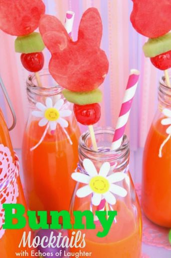 Easter Bunny Mocktails by Echoes of Laughter for Tatertots and Jello #DIY #Easter