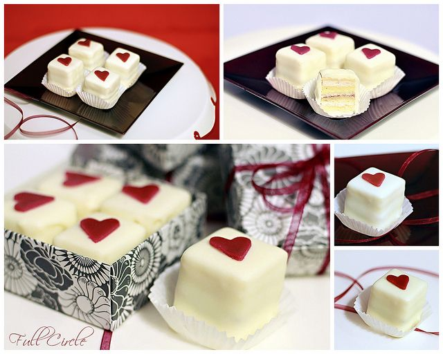 Valentine Petits Fours by *kimmie*, via Flickr    Eat me?