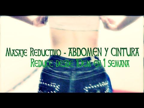 Como hacer un Masaje reductivo en casa abdomen cintura / EASY How to make reductive massage - YouTube