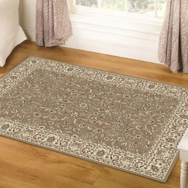 Million Point Chatsworth Gold / Ivory Rug - Starting from £59 | brandinteriors.co.uk