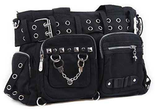 Gothic Messenger Bag with Handcuff & Chain | Gothic shoulder Bag | College / Travel / Leisure bag | Laptop Bag | Sling Bag for School | Crossbody Bag Black Hobo Bag for Teens | DBG2510 Gothic Bags http://www.amazon.com/dp/B00GO1PESW/ref=cm_sw_r_pi_dp_WI.uub1478VH2