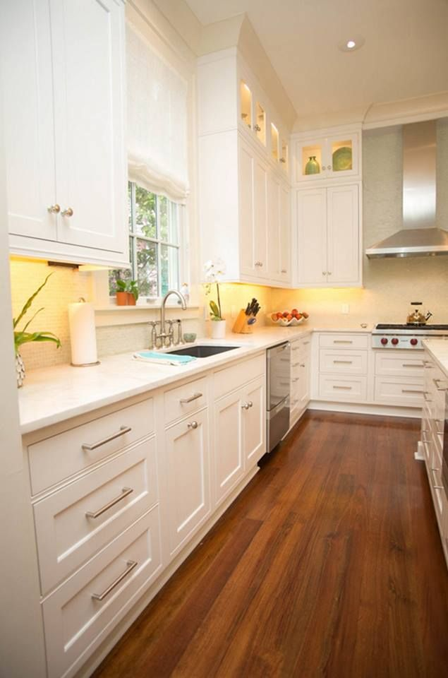 Whites and off-whites are the popular kitchen colors http://www.