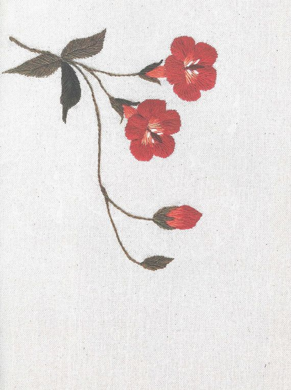 Korea Embroidery of 50 Floral Designs - Korean craft book (in simplified…