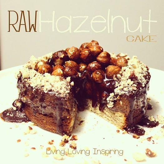 RAW HAZELNUT MINI CAKE  MUST TRY! Recipe at www.luciademello.com  xx