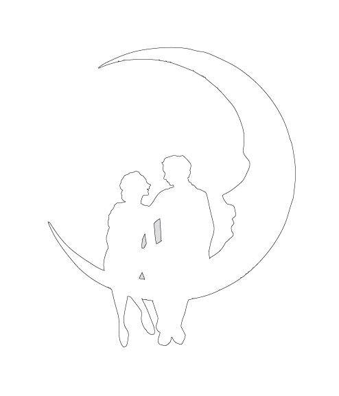 Paar im Mond