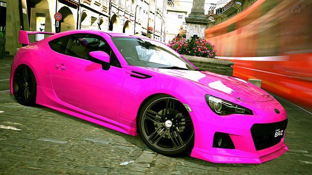Subaru Impreza WRX STI JDM Tuning Anime Aerography Car ... |Pink Subaru Impreza Wrx