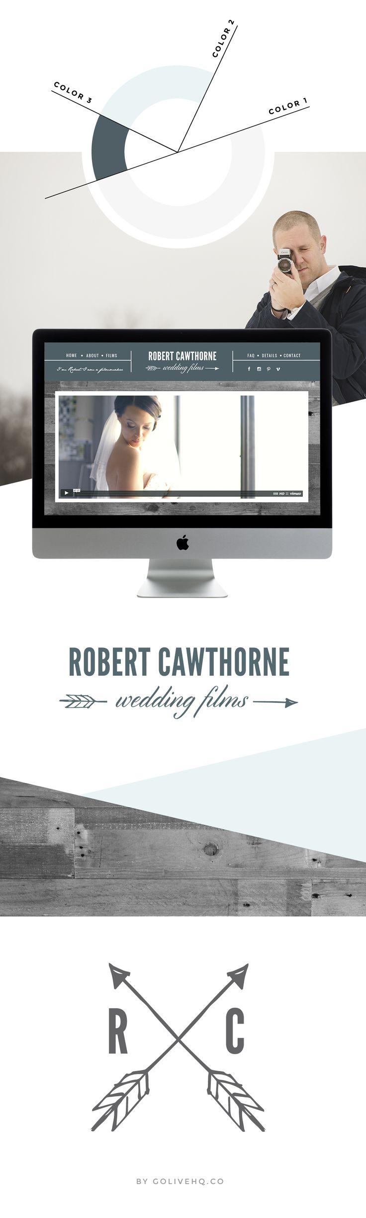 Robert Cawthorne Wedding Films branding and web design | www.weddingfilmsbyrobert.com
