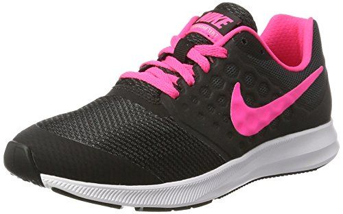 6b8787818152 NIKE Kids Downshifter 7 (GS) Black Hyper Pink White Size 4 ...