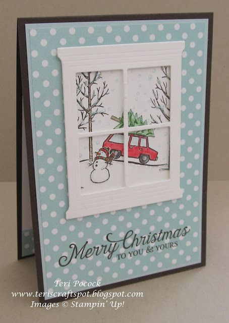 Stampin' Up! - Hearth and Home with White Christmas .... Teri Pocock - http://teriscraftspot.blogspot.co.uk/2015/11/hearth-home-with-white-christmas.html
