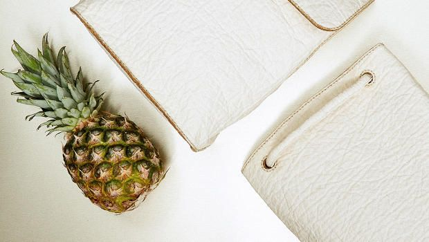 Vegan leather made of pineapple. So cool!