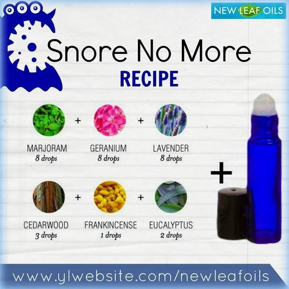 Young Living Essential Oils:  Snoring: