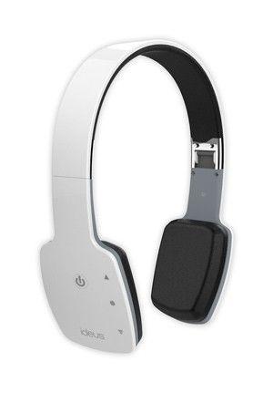 he100btw ideus bluetooth headphones white support bluetooth phone calls. Black Bedroom Furniture Sets. Home Design Ideas