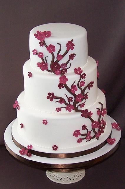 Cherry Blossom Cake by cakespace - Beth (Chantilly Cake Designs), via Flickr