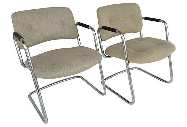 Steelcase Cantilevered Armchairs, Pair on OneKingsLane.com