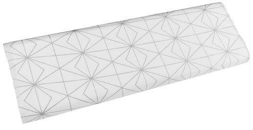 Metervare ABRAUR 5m/pk grafikk sølv/hvit   JYSK