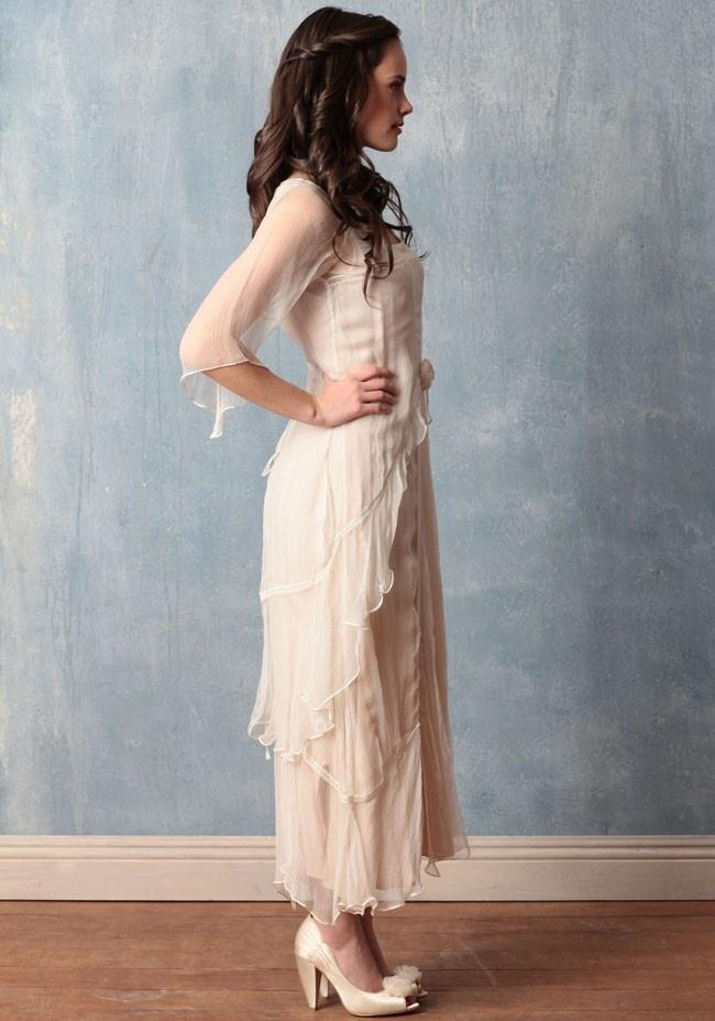 Olivia chiffon dress wedding reception dresses and plus for Plus size dress for wedding reception
