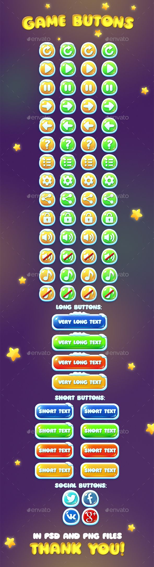 Chistmas and Usual Game Buttons Set PSD. Download here: https://graphicriver.net/item/chistmas-and-usual-game-buttons-set/13989366?ref=ksioks