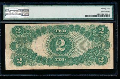 New! AC Fr 60 1917 $2 Legal Tender PMG 25 https://www.paper-money-collector.com/product/ac-fr-60-1917-2-legal-tender-pmg-25/ #Paper #Money #UnitedStates