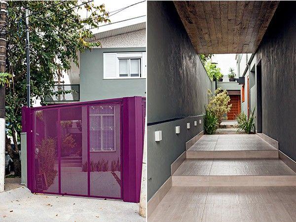 Fachada | As paredes externas receberam pintura com uma mistura de várias tintas  e cimento para cobrir a antiga textura de grafiato - projeto CASA 14 Arquitetura