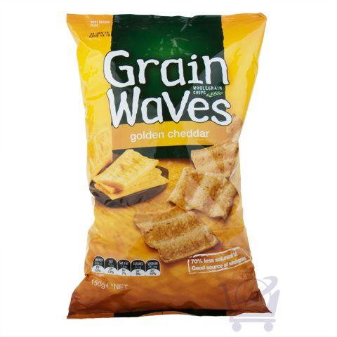 Multigrain Chips - Grain Waves Golden Cheddar - 150g | Shop New Zealand NZ$7.9