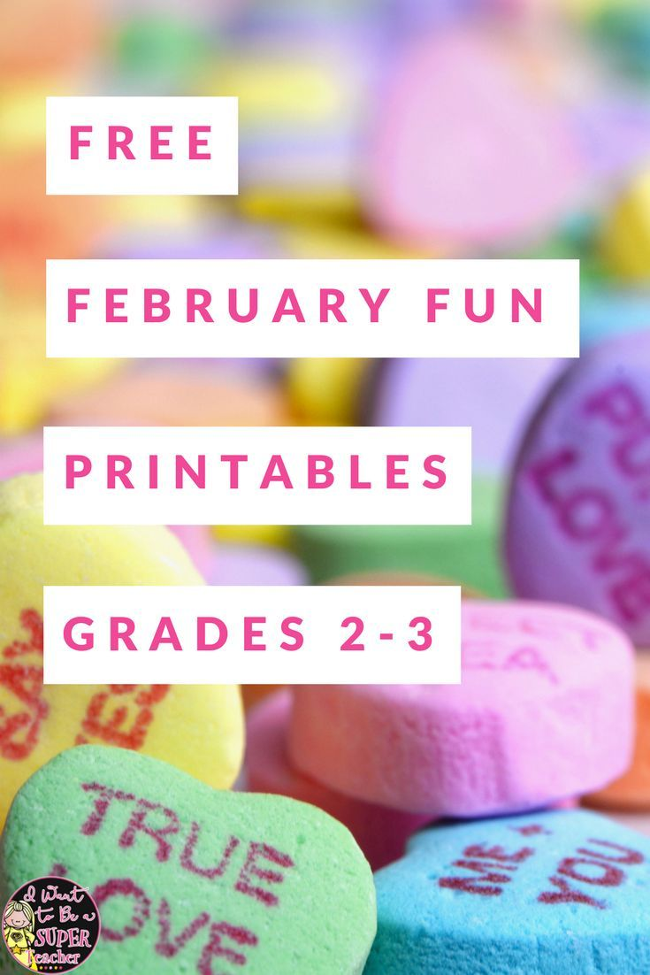 medium resolution of Save Your Sanity with 4 {FREE} February Printables   Elementary valentines